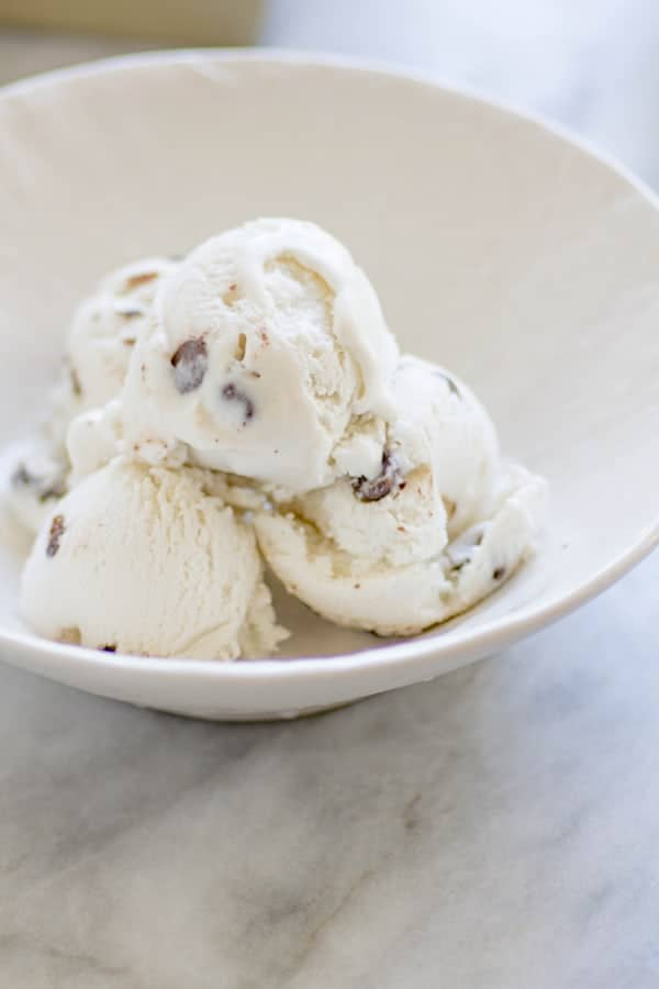 Luscious Vegan Mint Chocolate Chip Ice Cream recipe by Miyoko Schinner on @beardandbonnet www.thismessisours.com