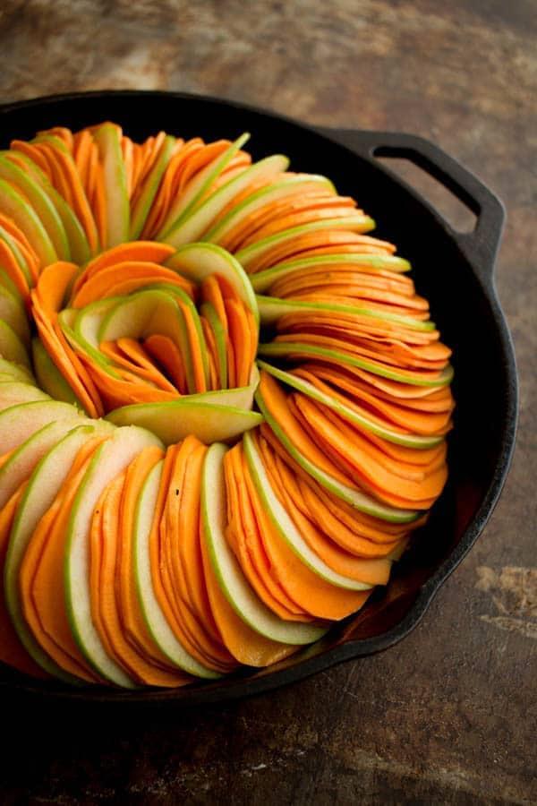 Sweet Potato Casserole Tian recipe by @beardandbonnet on www.beardandbonnet.com