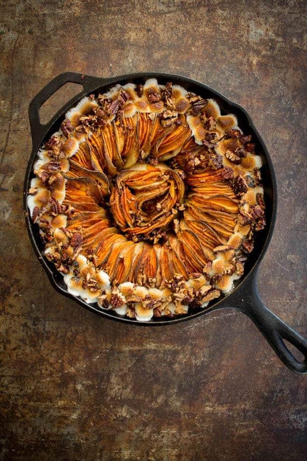 Sweet Potato Casserole Tian recipe by @beardandbonnet on www.thismessisours.com