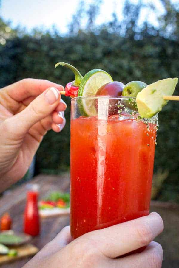 California Fresh Bloody Mary recipe by @beardandbonnet on www.thismessisours.com