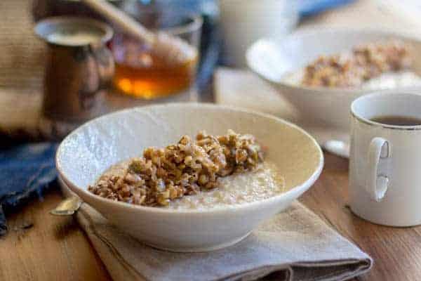 Gluten Free Baklava Oatmeal recipe by @beardandbonnet on www.thismessisours.com