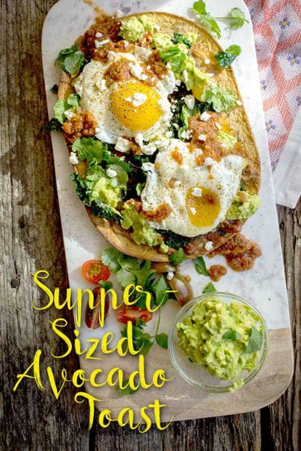 Supper-Sized Flatout Avocado Toast recipe on @beardandbonnet www.thismessisours.com