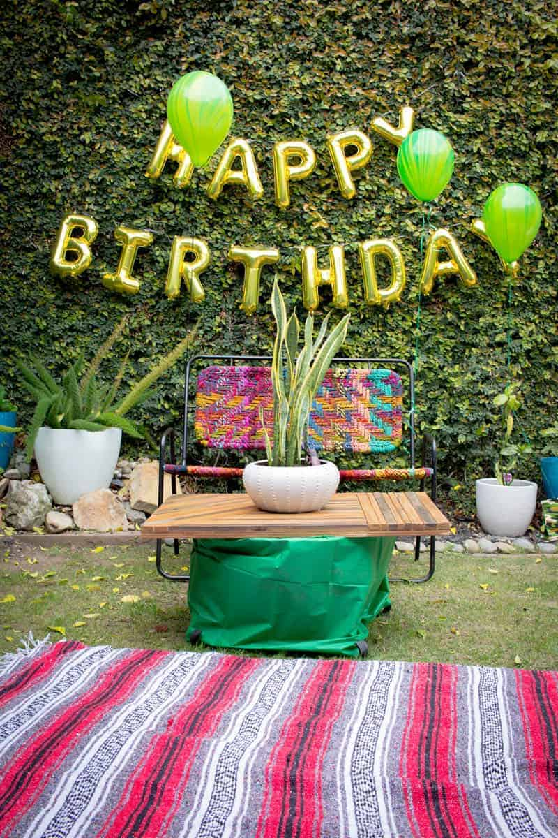 Big Green Birthday Party on @beardandbonnet