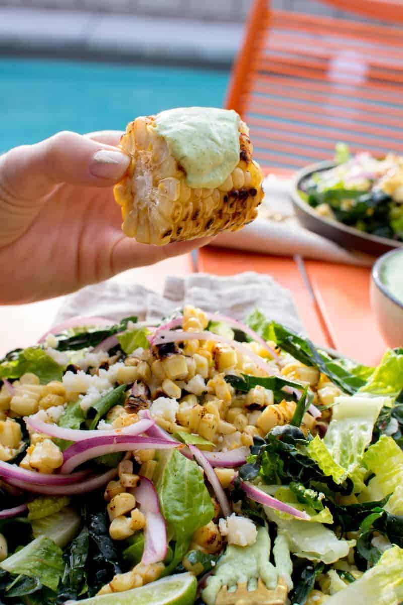 Elote Salad recipe by @beardandbonnet on www.thismessisours.com