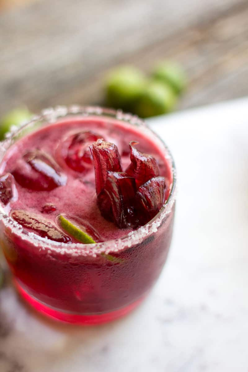 Hibiscus Key Lime Margaritas recipe by @beardandbonnet on www.thismessisours.com