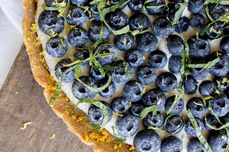 Blueberry Dessert Pizza recipe on @beardandbonnet with @Driscolls
