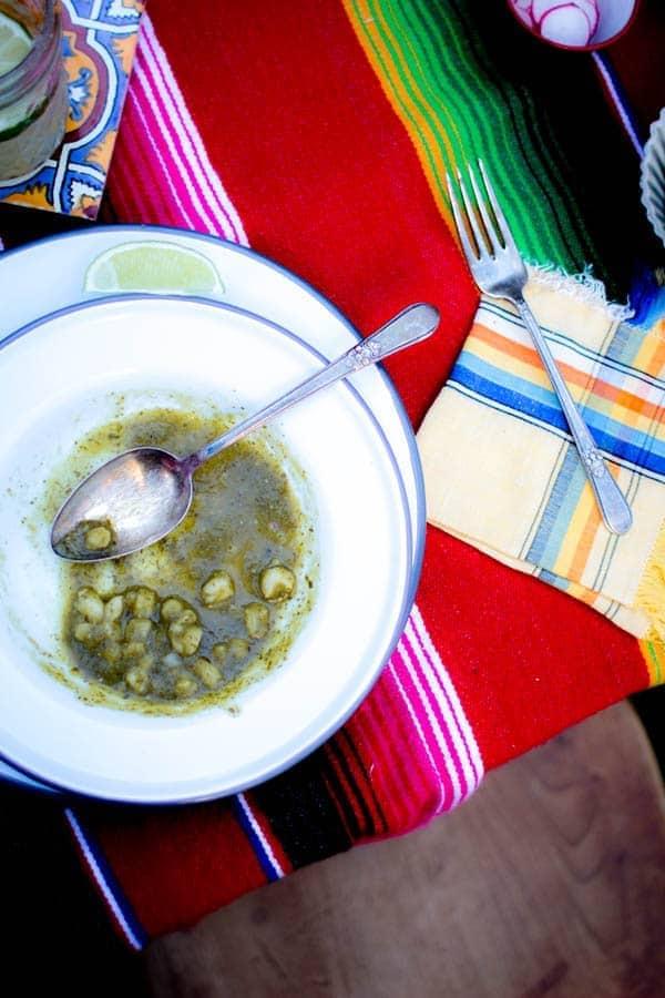 Vegan Green Pozole and Dia de los Muertos feast on @beardandbonnet
