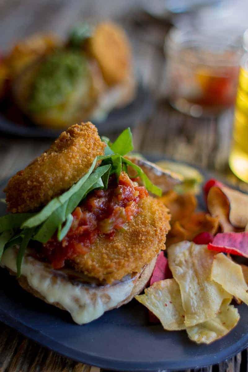 Summer's best produce all in one irresistable sandwich! Eggplant Parmesan Sandwich with @Massel on @beardandbonnet