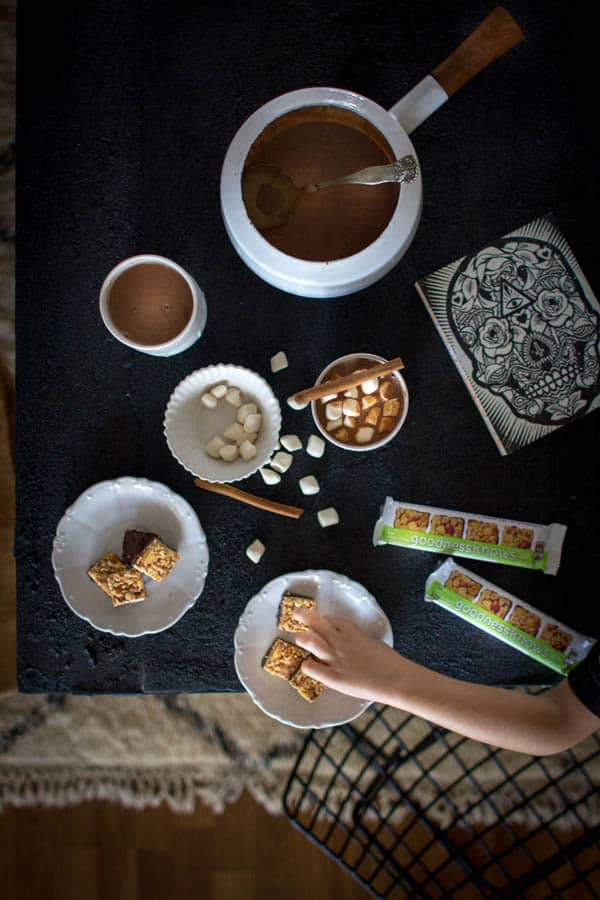 Mexican Hot Chocolate recipe & @gksnacksquares on @beardandbonnet #tryalittlegoodness