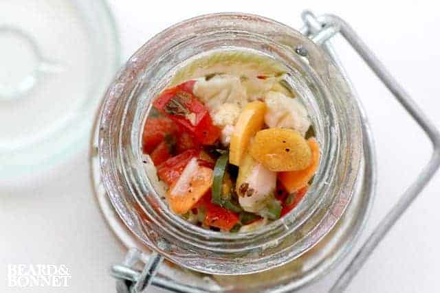 {beard+bonnet}: Hot Giardiniera