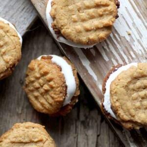 10 Recipes To Make A Teen When One Direction Breaks Up: Peanut Butter Sandwich Cookies recipe {@beardandbonnet }