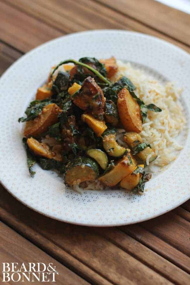Summer Veggie Miso Bake {Beard and Bonnet}