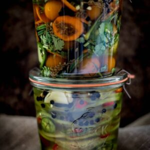 Pickled Tomatillos and Pickled Cherry Tomatoes (Vegan and Gluten-Free)