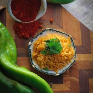 Rice Infused with Heirloom Chile Powder {Beard and Bonnet} #glutenfree #vegan