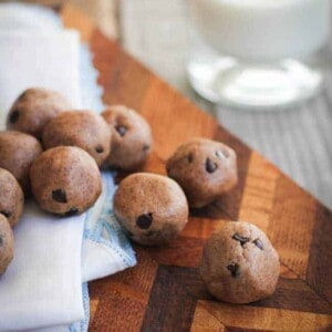 Chocolate Chip Cookie Dough Bites {Beard and Bonnet} #glutenfree