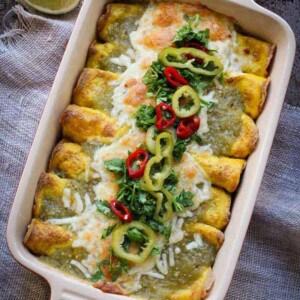 Huevos Rancheros Breakfast Enchiladas (Gluten Free)