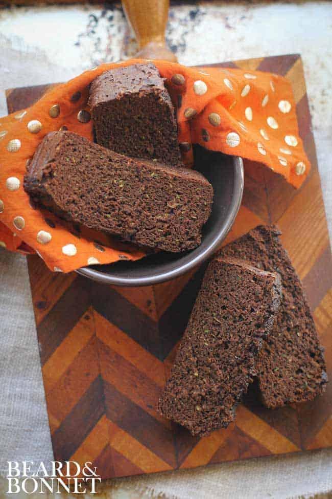 Paleo Chocolate Zucchini Bread #glutenfree #paleo #dairyfree