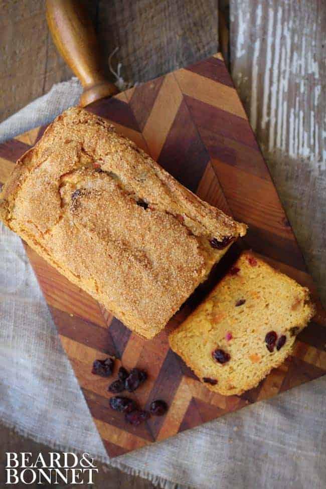 Sweet Potato Cranberry Quick Bread