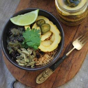 Delicata Squash & Poblano Pickles