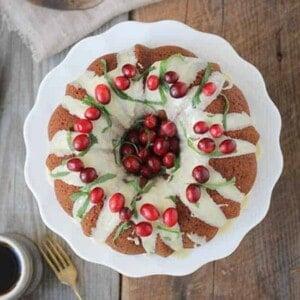 Cranberry-Citrus Coconut Bundt Cake#glutenfree
