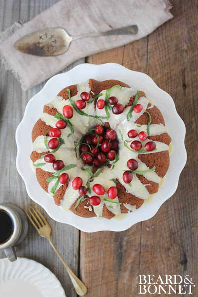 Cranberry-Citrus Coconut Bundt Cake#glutenfree