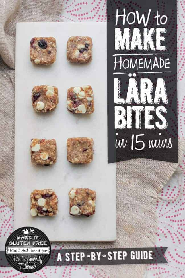 How To Make Homemade Lära Bites and Bars {Beard and Bonnet} #glutenfree #vegan