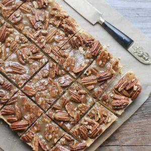 Pecan Pie Bars {Beard and Bonnet} #glutenfree