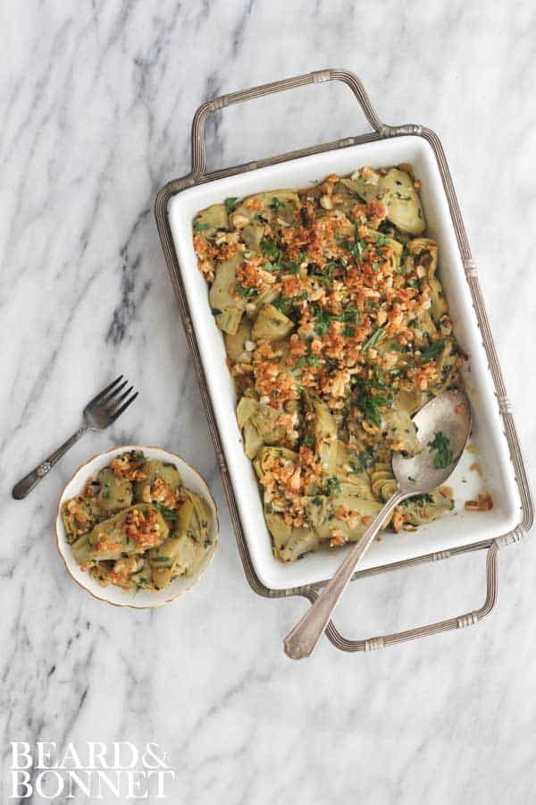 Artichoke Gratinata {Beard and Bonnet} #glutenfree