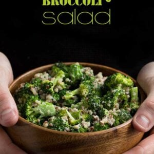 Creamy Broccoli-Quinoa Salad {By Queen of Quinoa for Beard and Bonnet} #glutenfree #vegan