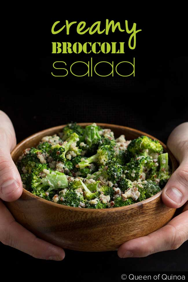 Creamy broccoli quinoa salad creamy broccoli quinoa salad by queen of quinoa for beard and bonnet forumfinder Images