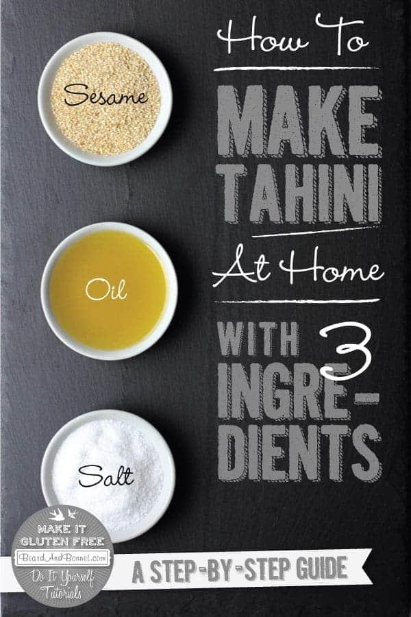 How To Make Tahini {Beard and Bonnet} #glutenfree #vegan #tutorial