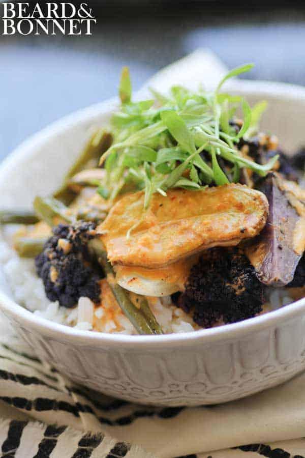 Roasted Spring Vegetable Curry {Beard and Bonnet} #glutenfree #vegan