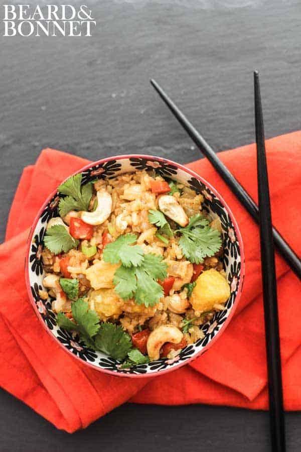 Vegetable Fried Rice With Pineapple {Beard & Bonnet} #glutenfree #vegan