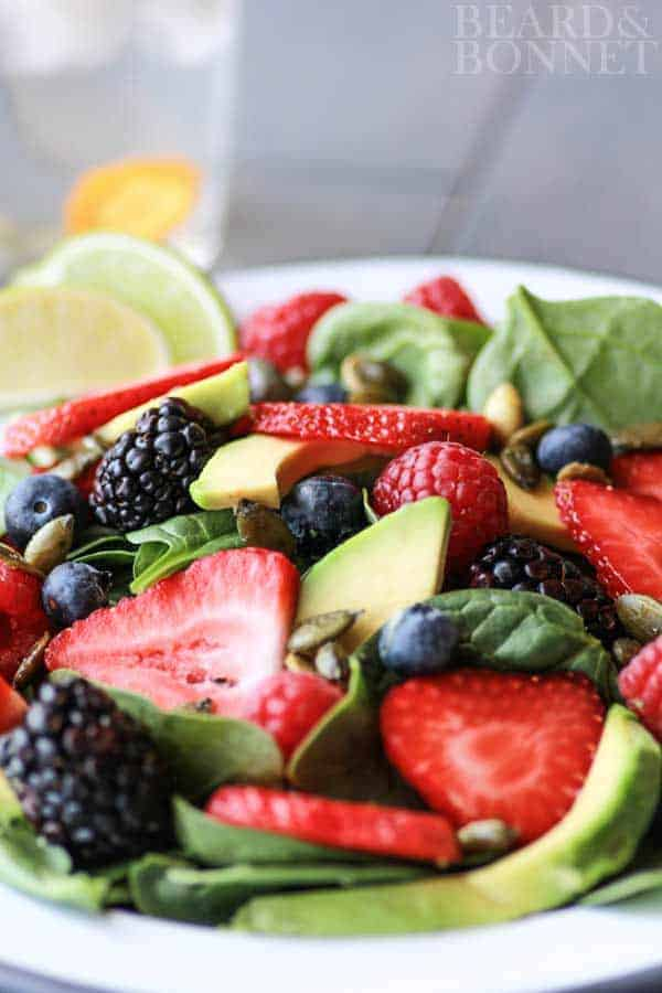 Berry & Avocado Salad With Cilantro Dressing {Beard and Bonnet} #glutenfree #vegan