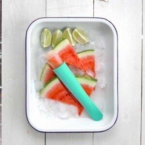 Watermelon & Lime Ice Pops {Beard and Bonnet} #glutenfree #vegan