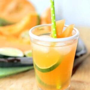 Cantaloupe and Lime Agua Fresca {Beard and Bonnet} #glutenfree #vegan