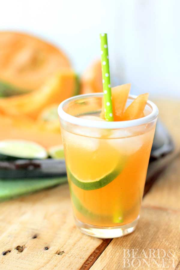 Cantaloupe and Lime Agua Fresca {Beard and Bonnet} #glutenfree #vegan