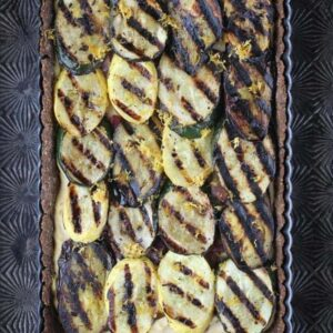 Grilled Vegetable and Hummus Tart {Beard and Bonnet}