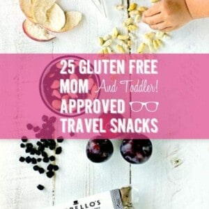 25 Gluten Free Mom + Toddler Approved Traveling Snacks