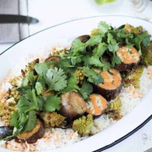 Romanesco and Eggplant Curry {Beard and Bonnet} #glutenfree #vegan