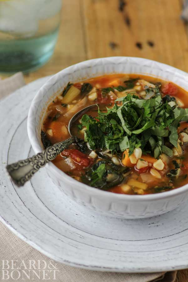 Garden Vegetable Soup {Beard and Bonnet} #glutenfree #vegan