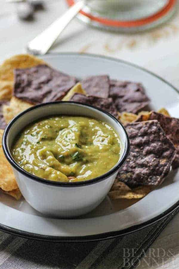Roasted Hatch Chile and Tomatillo Salsa {Beard and Bonnet} #glutenfree #vegan