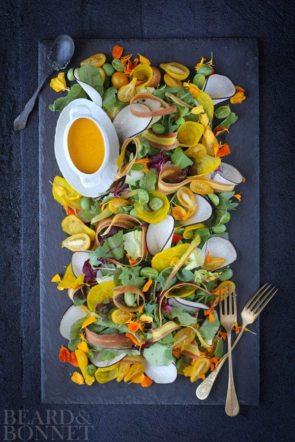 Summer's End Salad {Beard and Bonnet} #glutenfree #veganmofo2014 #vegan