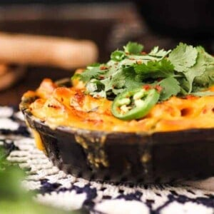 Get ready for a total mac and cheese game changer!!! This kimchi mac and cheese is spicy, tangy, and creamy with a perfectly golden, crispy top. Each bite gets an extra flavor punch from a special mixture of fresh herbs.