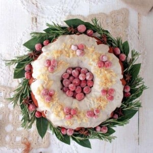 Cranberry, Ginger, and Coconut Bundt Cake {Beard and Bonnet}