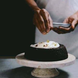 Warm Dark Chocolate Brown Rice Cake by A Brown Table {Beard and Bonnet}