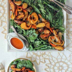 Gluten free and vegan Miso-Curry Roasted Vegetable Salad {Beard and Bonnet}