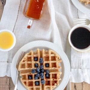 Meyer Lemon Poppy Seed Waffles {@beardandbonnet www.beardandbonnet.com }