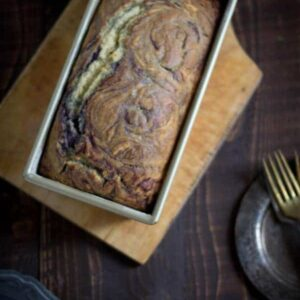 Blueberry Lavender Swirl Quick Bread { @beradnadbonnet www.beardandbonnet.com }#glutenfree