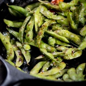 Easy Blistered Edamame {www.thismessisours.com}